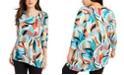 JM Collection Petite Asymmetrical-Hem Tunic, Created for Macy's