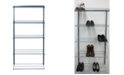 Triton Products Storability 5 Tier Shoe and Boot Rack with Top Track and Hang Rail