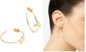 "kate spade new york Gold-Tone Medium Butterfly Hoop Earrings, 1.5"""