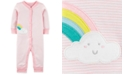 Carter's Baby Girls Striped Rainbow Cotton Coverall