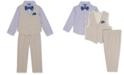 Nautica Baby Boys 4-Pc. Faux-Linen Vest Set