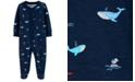 Carter's Baby Boys Ocean-Print Cotton Footed Coverall