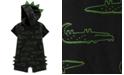 Carter's Baby Boys Hooded Alligator-Print Cotton Romper