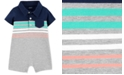 Carter's Baby Boys Striped Polo-Collar Cotton Romper