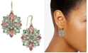 Charter Club Gold-Tone Crystal & Stone Flower Drop Earrings, Created for Macy's
