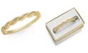 Charter Club Gold-Tone Crystal Twist Bangle Bracelet, Created for Macy's