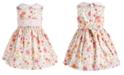 Bonnie Baby Baby Girls Floral-Print Peter Pan Collar Dress