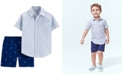 Carter's Toddler Boys 2-Pc. Cotton Striped Shirt & Flamingo-Print Shorts Set