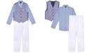 Nautica Toddler Boys 4-Pc. Basketweave Vest Set