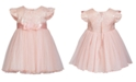 Bonnie Baby Baby Girls Jacquard Mesh Dress
