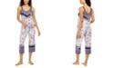 Linea Donatella Mixed-Print Cropped Pajama Set