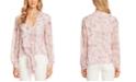 Vince Camuto Floral-Print Tie-Hem Blouse