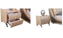 Us Pride Furniture Patty 2 Drawer Nightstand