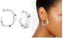 Calvin Klein Origami Hoop Earrings in Silver-Tone