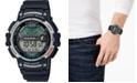 Casio Men's Digital Fishing Gear Black Resin Strap Watch 47mm