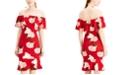 Almost Famous Juniors' Floral Off-The-Shoulder Dress