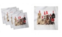 """Ambesonne Dog and Cat Set of 4 Napkins, 12"""" x 12"""""""