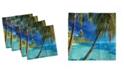 "Ambesonne Ocean Set of 4 Napkins, 12"" x 12"""