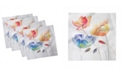 """Ambesonne Watercolor Flower Set of 4 Napkins, 12"""" x 12"""""""