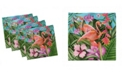 "Ambesonne Flamingo Set of 4 Napkins, 12"" x 12"""