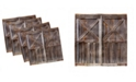"Ambesonne Rustic Set of 4 Napkins, 12"" x 12"""