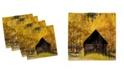 "Ambesonne Autumn Set of 4 Napkins, 12"" x 12"""