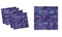 """Ambesonne Snowflakes Xmas Set of 4 Napkins, 12"""" x 12"""""""