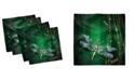 "Ambesonne Dragonfly Set of 4 Napkins, 12"" x 12"""