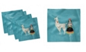 "Ambesonne Llama Set of 4 Napkins, 12"" x 12"""