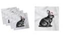 """Ambesonne Bunny Set of 4 Napkins, 12"""" x 12"""""""