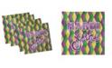"Ambesonne Mardi Gras Set of 4 Napkins, 18"" x 18"""