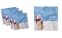 "Ambesonne Snowman Set of 4 Napkins, 18"" x 18"""