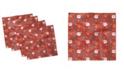 "Ambesonne Cartoon Santa Set of 4 Napkins, 18"" x 18"""