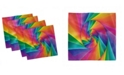 "Ambesonne Trippy Set of 4 Napkins, 18"" x 18"""