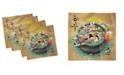 "Ambesonne Korea Set of 4 Napkins, 18"" x 18"""