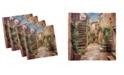 "Ambesonne Italian Set of 4 Napkins, 18"" x 18"""