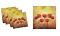 """Ambesonne Poppy Set of 4 Napkins, 18"""" x 18"""""""
