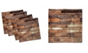 """Ambesonne Wooden Set of 4 Napkins, 18"""" x 18"""""""