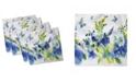 "Ambesonne Summer Flora Set of 4 Napkins, 18"" x 18"""