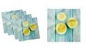 "Ambesonne Halved Lemon Set of 4 Napkins, 18"" x 18"""
