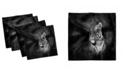 "Ambesonne Animal Monotone Set of 4 Napkins, 18"" x 18"""