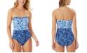 Tommy Bahama Ruffle Bandeau One-Piece Swimsuit