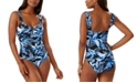 Tommy Bahama Tummy-Control One-Piece Swimsuit