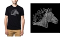 LA Pop Art Men's Premium Word Art T-shirt - Horse Mane