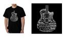 LA Pop Art Men's Word Art - Languages Guitar T-Shirt