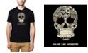 LA Pop Art Men's Premium Word Art T-Shirt - Dia De Los Muertos
