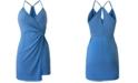BCBGeneration Twist-Wrap Mini Dress