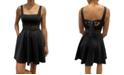 City Studios Juniors' Square-Neck Fit & Flare Dress