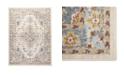 "Global Rug Designs Barnes Bar03 Ivory and Blue 5'3"" x 7'3"" Area Rug"