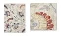 "Global Rug Designs Haven Hav13 Ivory and Navy 5'3"" x 7'2"" Area Rug"
